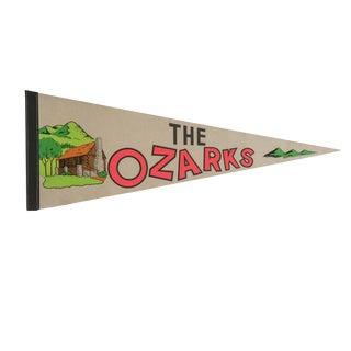 Vintage the Ozarks Felt Flag Pennant