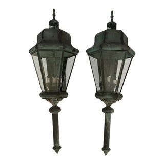 Large Copper Lanterns - a Pair