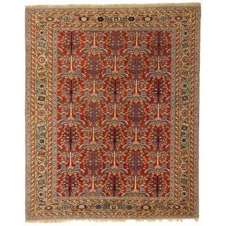 Vintage Turkish Oushak Rug with Modern Traditional Style and Tree of Life Design