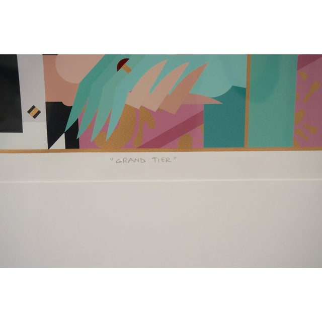 """Art Deco Art Deco Revival """"Grand Tier"""" Lithograph by Giancarlo Impiglia For Sale - Image 3 of 7"""