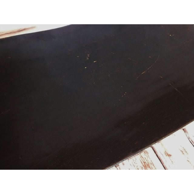 Vintage Wave Bench in Black Lacquer - Image 10 of 11