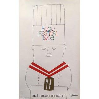 1968 Original Danish Design Poster - Copenhagen Trade Fair at the Bella Centret (Chef) For Sale