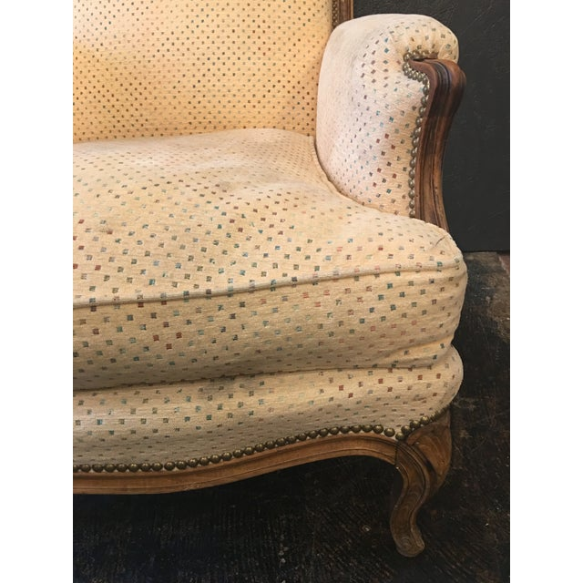 Louis XV Style Bergeres - a Pair For Sale - Image 10 of 11