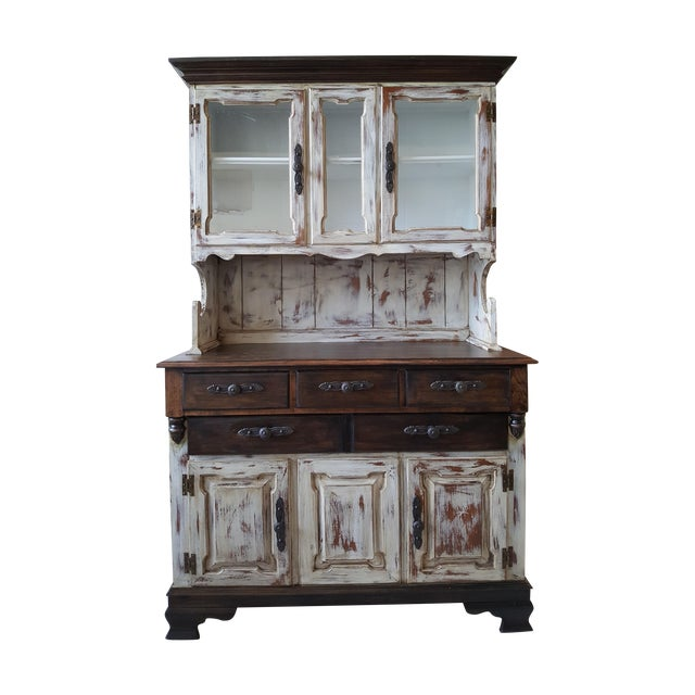 Shabby Chic Young Republic Brand Hutch / Buffet - Image 1 of 6