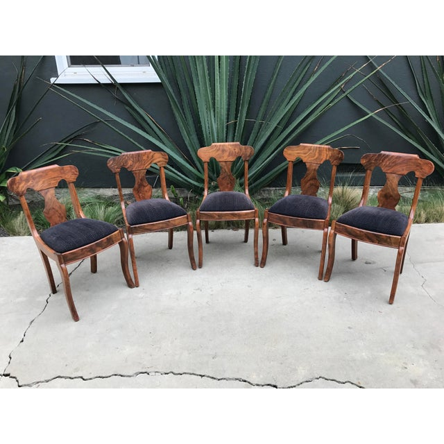 Handmade Burlwood Dining Chairs - Set of 5 - Image 2 of 6