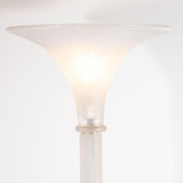 1980s Mid-Century Venetian Glass Floor Lamp Documented by Karl Springer for Seguso For Sale - Image 5 of 10
