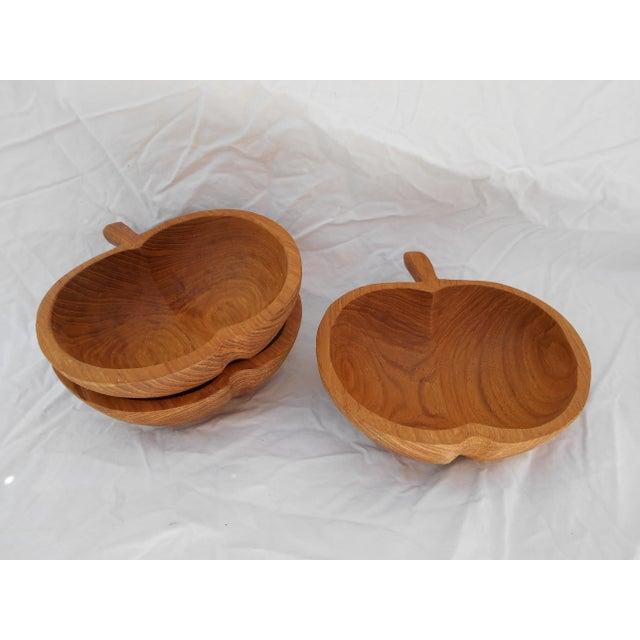 1970s Mid-Century Teak Nut Bowls - Set of 3 For Sale - Image 5 of 7