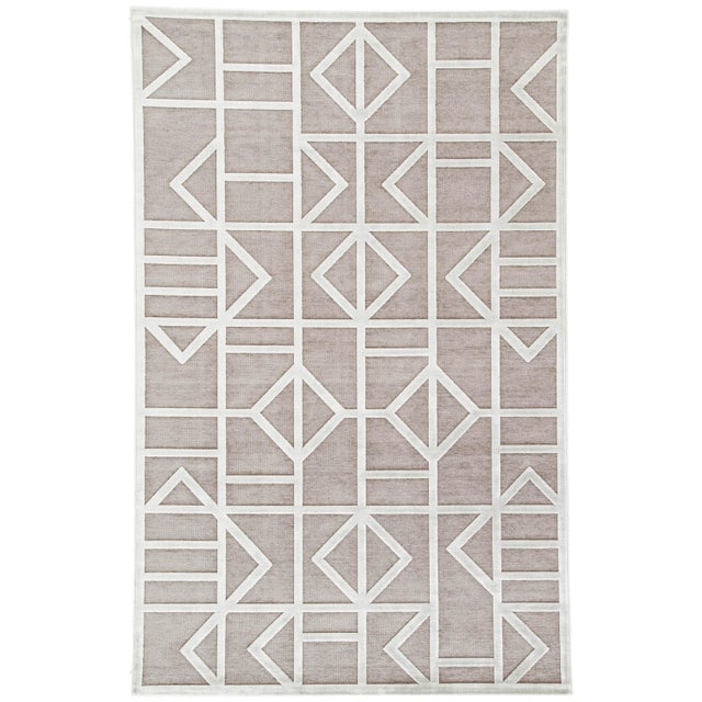 Jaipur Living Cannon Geometric Gray/ White Area Rug - 7′6″ × 9′6″ For Sale In Atlanta - Image 6 of 6