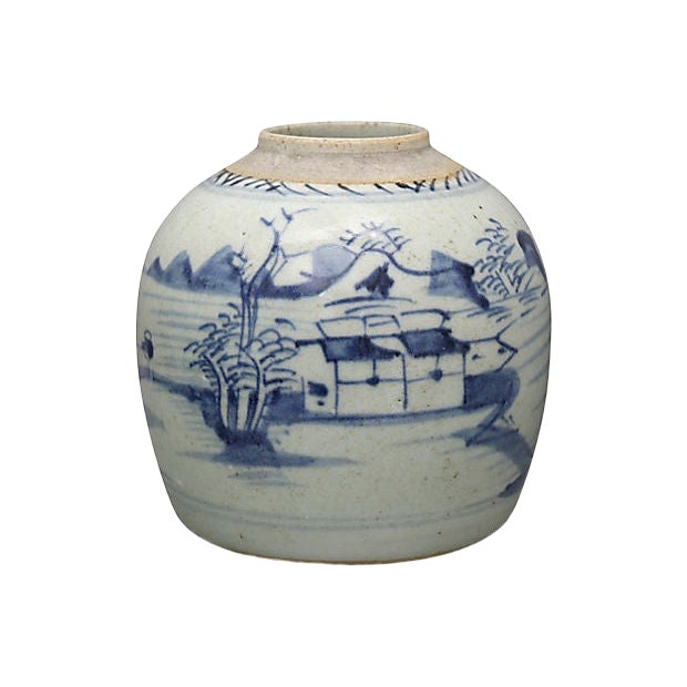 Antique Chinese Export Canton Ginger Jar For Sale