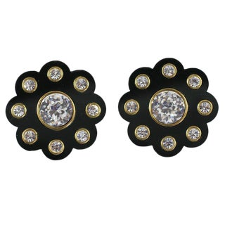 Spectacular Chanel Daisy Earrings For Sale