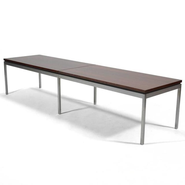 Mid-Century Modern Florence Knoll Rosewood Table or Bench For Sale - Image 3 of 10