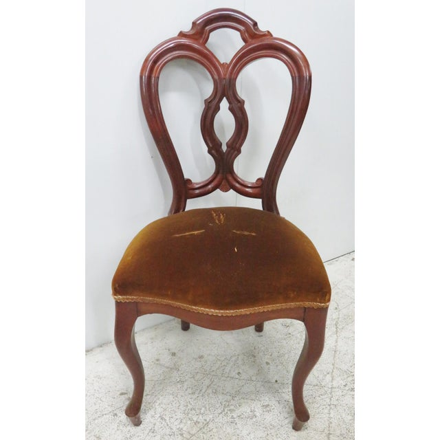 Traditional Victorian Mahogany Side Chair For Sale - Image 3 of 6