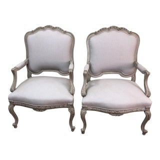 Antique Louis XV Style Side Chairs - A Pair