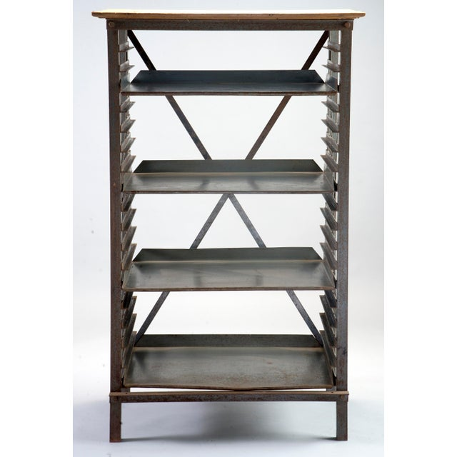 ndustrial Blue Metal Adjustable Shelf Unit - Image 2 of 8