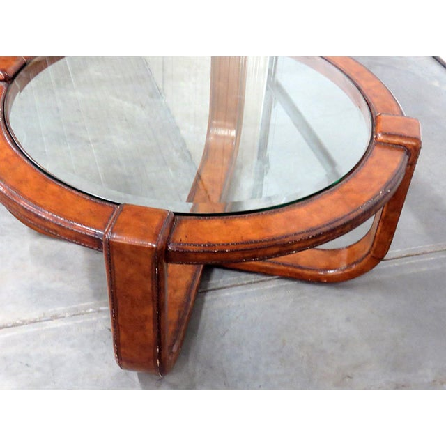 Mid-Century Modern Design Glass Top Coffee Table For Sale - Image 4 of 5