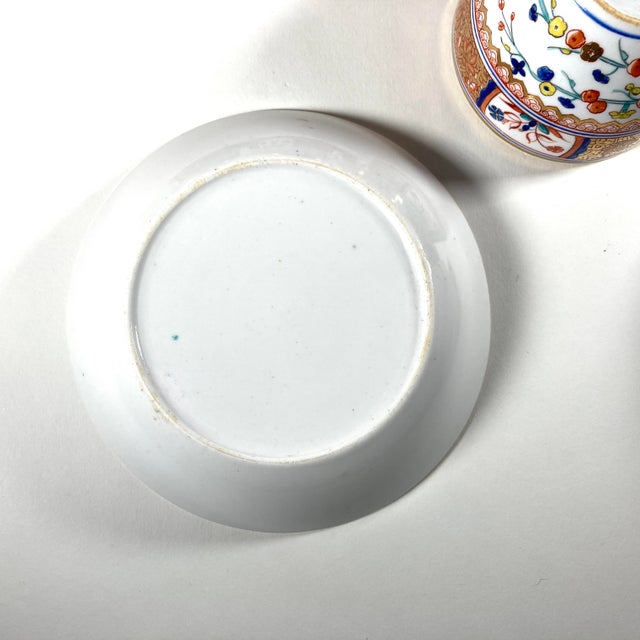 """Ceramic Early 19th Century English Georgian Spode """"Kakiemon"""" Tea / Coffee Cups and Saucers - Set of 6 For Sale - Image 7 of 8"""
