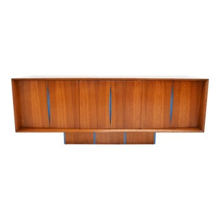 Vladimir Kagan Cherry Wood Bow Front Credenza For Sale