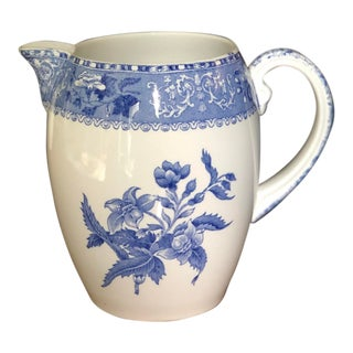 Spode Camilla Blue Copeland England Pitcher For Sale