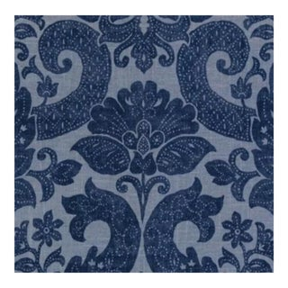 Duralee Se42563-146 Betsy Denim Fabric -1 Yard For Sale
