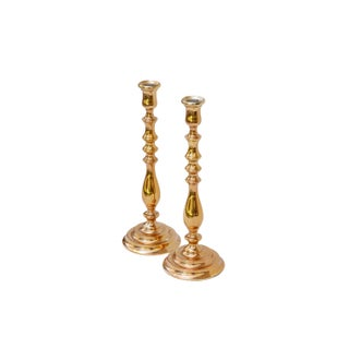 Large Bright Gold Candlesticks, a Pair Preview