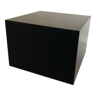 Vintage Black Laminate Cube Table For Sale