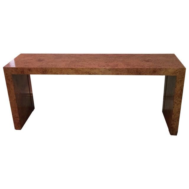 Milo Baughman Burlwood Parsons Console Table - Image 1 of 10