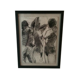 Matt Alston Charcoal Drawing - Nude 12 For Sale