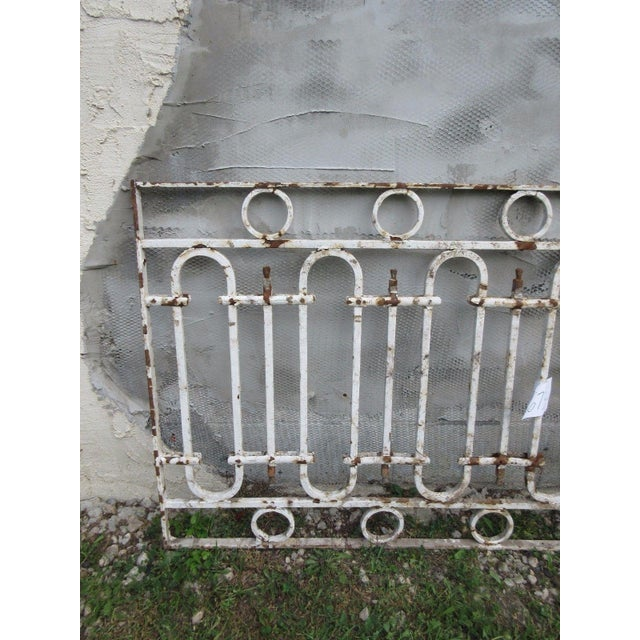 Antique Victorian Iron Gate or Garden Fence Element For Sale - Image 4 of 6
