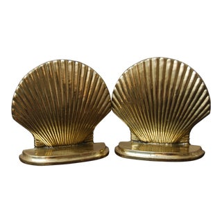 Hollywood Regency Seashell Bookends - a Pair For Sale