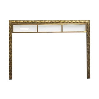 1900s Antique Brass Fireplace Mantel For Sale