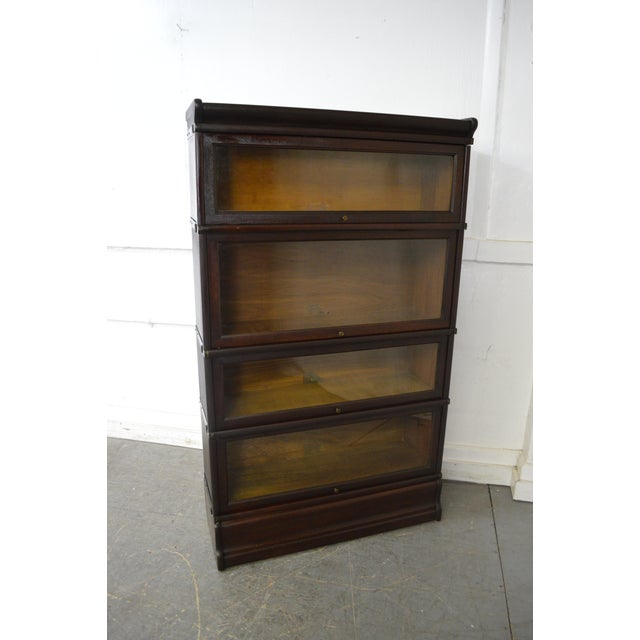 Globe Wernicke Antique Mahogany 4 Section Barristers Stacking Bookcase - Image 9 of 13
