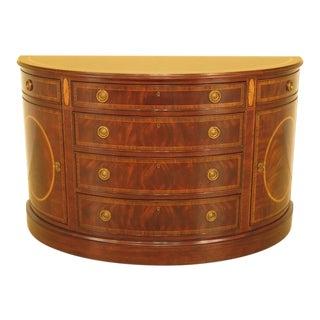 Henredon Demilune Figural Mahogany Console Cabinet For Sale