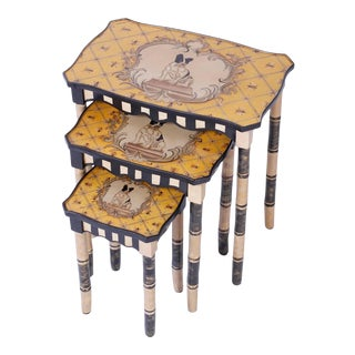 Dog Themed Nesting Tables - Set of 3 For Sale