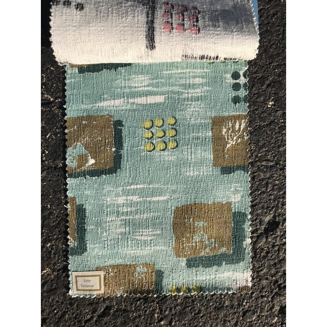 Mid-Century Modern 1954 Raymond Loewy Textile Swatch For Sale - Image 3 of 7