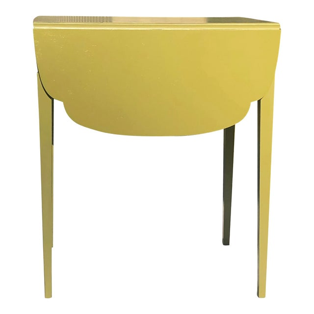Mahogany Pembroke tables with slender tapered legs. Solid wood with new satin lacquer finish. Solid brass pulls on the...