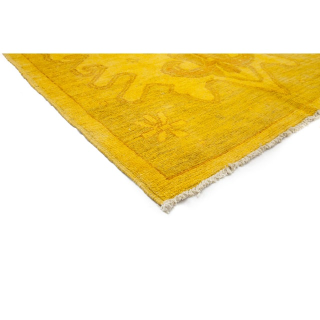 """Yellow Moroccan Hand-Knotted Rug - 5' 0"""" x 7' 10"""" - Image 2 of 3"""