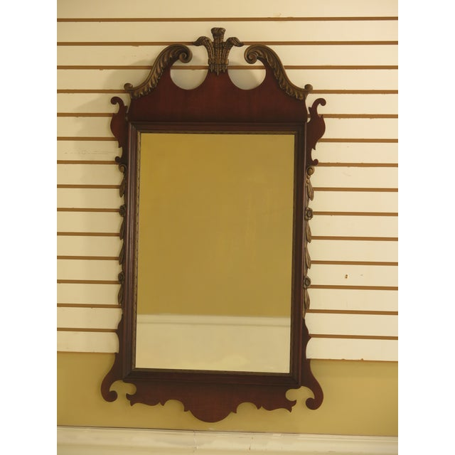 Kindel Vintage Mahogany Chippendale Wall Mirror For Sale - Image 11 of 11