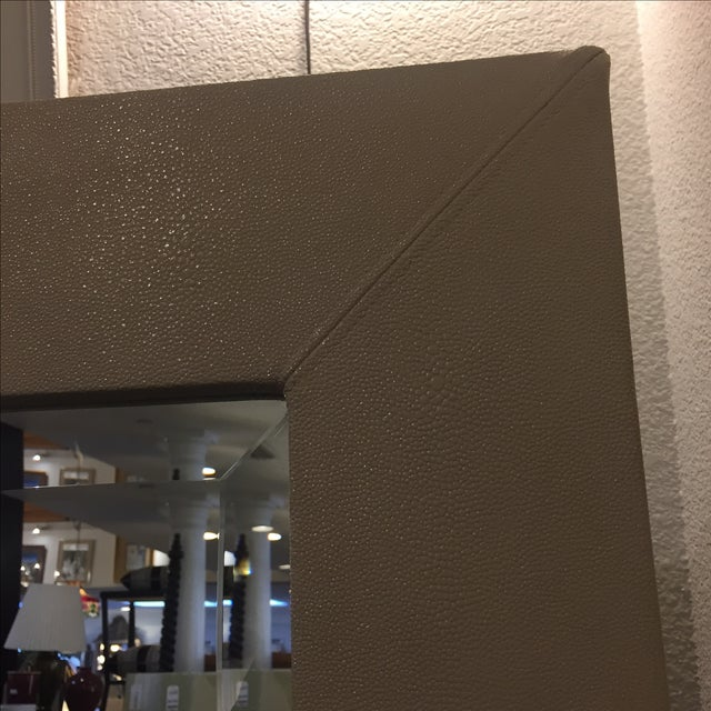 Large Ivory Shagreen Floor Mirror - Image 3 of 7
