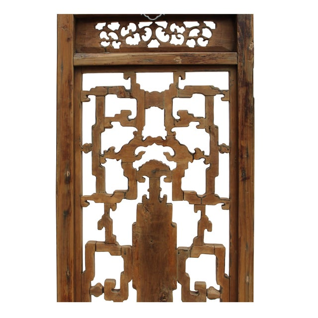 Chinese Vintage Light Brown Relief Motif Wood Wall Hanging Art For Sale In San Francisco - Image 6 of 10