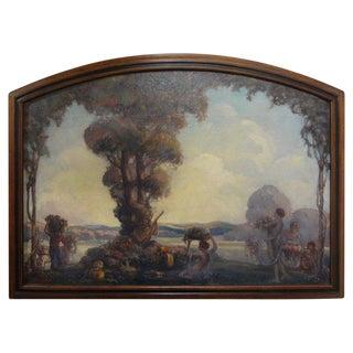 Framed Oil on Canvas Signed a.e. Hudson For Sale