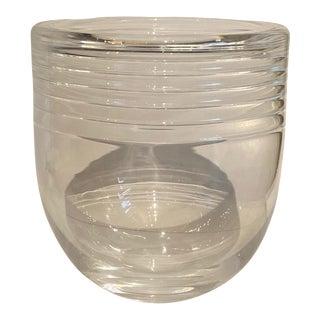 Vintage Mid-Century Modern Crystal Glass Bucket For Sale