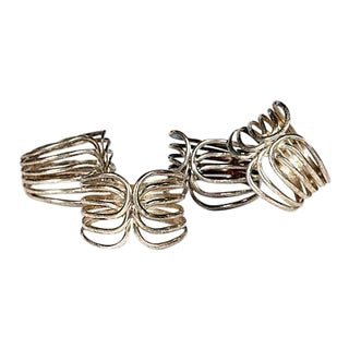 1960s Silver Plate Napkin Rings - Set of 4 For Sale