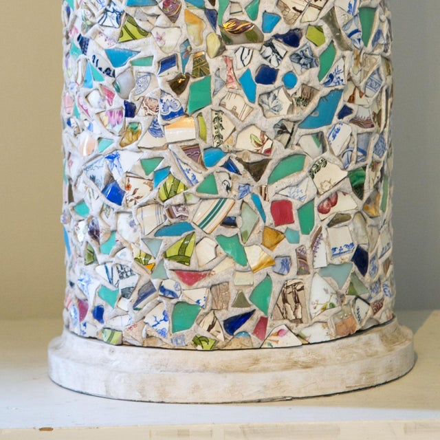Wonderfully Unique Mosaic Lamp For Sale - Image 4 of 6