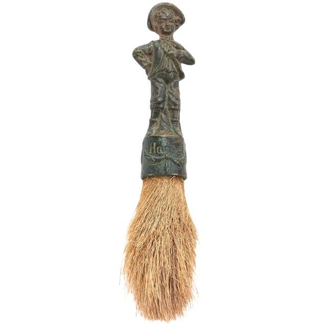 19th Century Decorative German Verdigris Brush For Sale