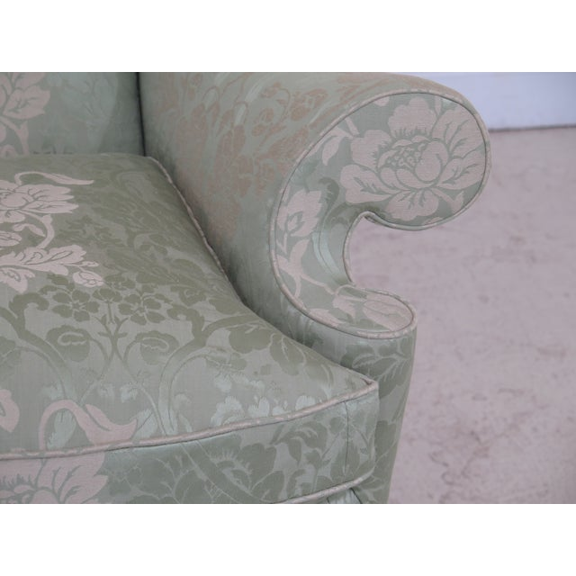 Item: KINDEL #412 Philadelphia Claw Foot Winterthur Wing Chair ~ NEW Age: BRAND NEW Details: Model #412 Sage Green Damask...