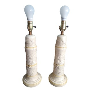 1960s Mid Century Faux Bamboo Table Lamps - a Pair For Sale