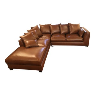 New Nathan Anthony Custom Folio Leather Sectional