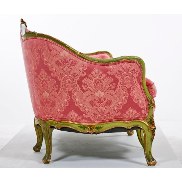 Nice mid 20th century Venetian painted settee. Period: 20th Century Region: Italy Materials: Upholstery Wood Condition:...