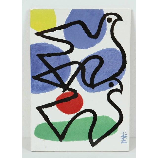 Set of three, Fire, Wind, Earth, original ceramic tiles by Celestino Piatti. Celestino Piatti (1922-2007) was a Swiss...