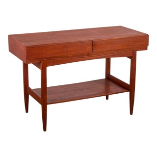 Ib Kofod Larsen Teak Console Table for Faarup For Sale